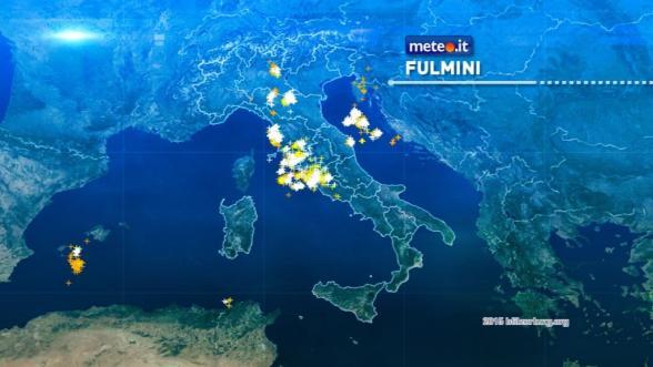 Cronaca meteo: la situazione in tempo reale del 19 agosto 2015